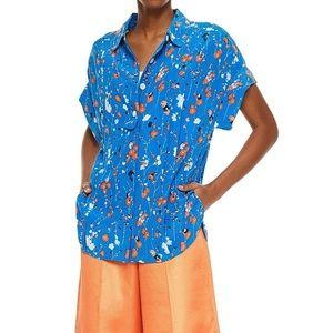 Equipment Floral Print Silk Crepe de Chine Shirt